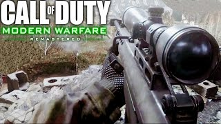 Call of Duty 4 Modern Warfare Remastered Sniper One Shot One Kill Mission Gameplay Veteran