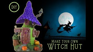 DIY Fairy Garden House Witch Hut