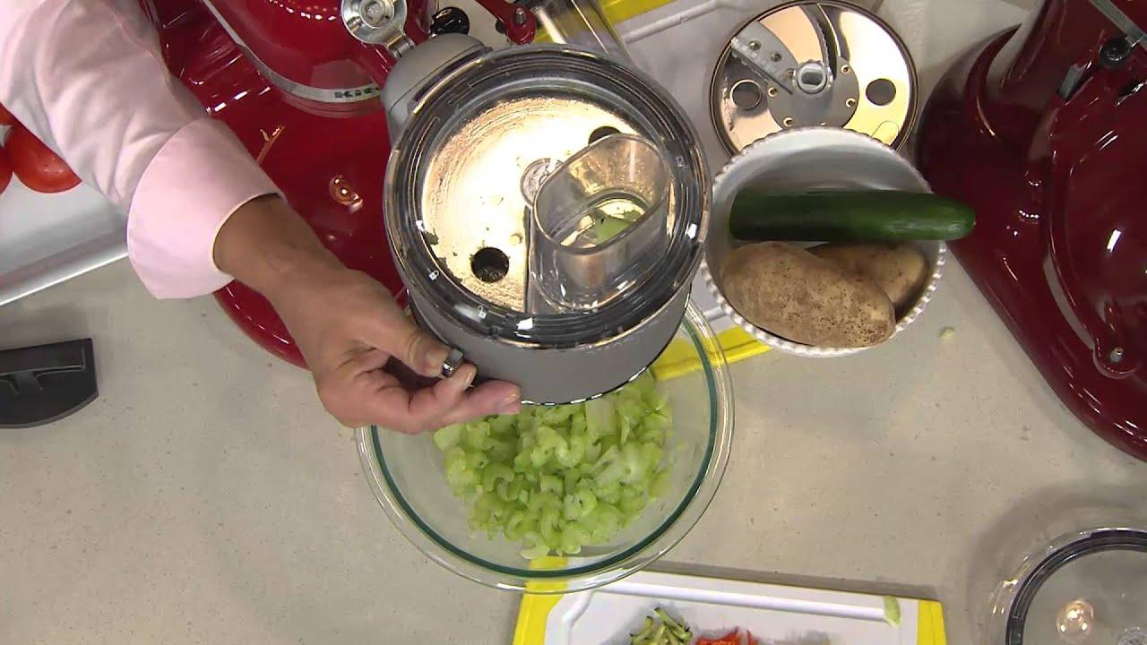 KitchenAid Premium Food Processor Stand Mixer Attachment with Alberti Popaj