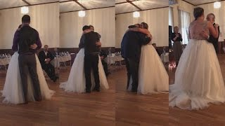 Bride Who Lost Dad To Cancer Sobs As Guests Step In For Father-Daughter Dance