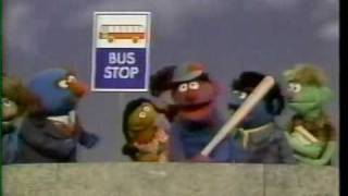 Sesame Street - Wait Right Here at the Bus Stop Sign