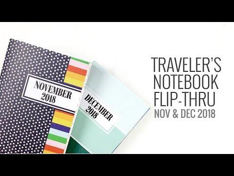 Traveler's Notebook Flip Through | November & December 2018