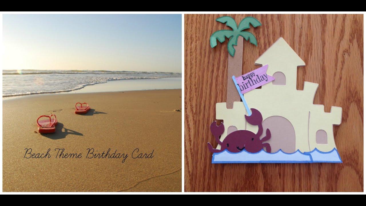 beach theme birthday card, Birthday card