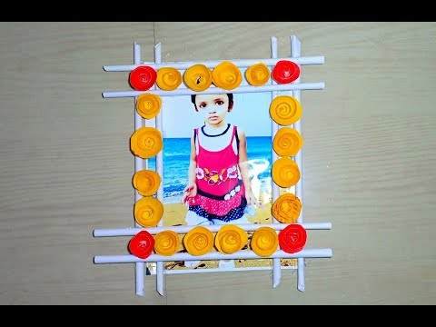 Make Awesome Photo Frame Out Of Paper Sticks | Diy
