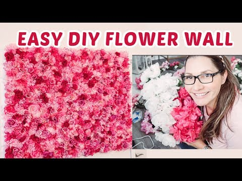 DIY FLOWER WALL | Dollar Tree Materials