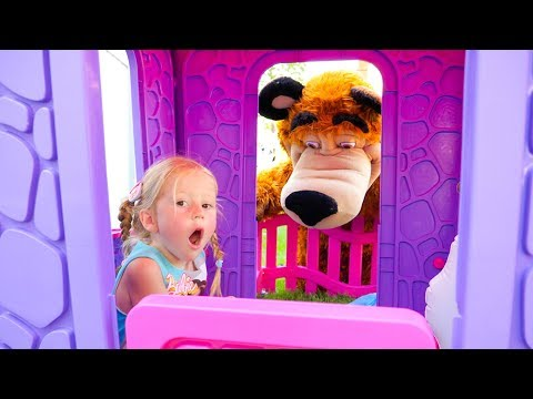 Настя и папа - три смешных видео про игрушки