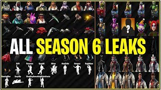 *NEW* Fortnite: ALL CURRENT SEASON 6 LEAKED SKINS,EMOTES,TOOLS,GLIDERS, AND PETS!