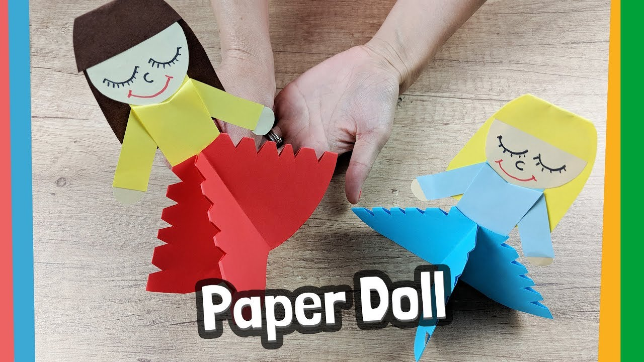 Lovely Paper Doll Craft For Kids Easy To Make At Home Youtube