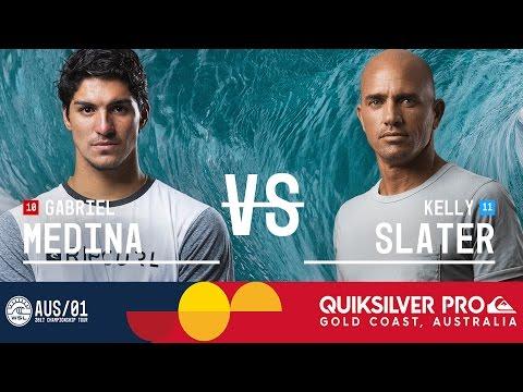Gabriel Medina vs. Kelly Slater - Quiksilver Pro Gold Coast 2017 Quarterfinals, Heat 4