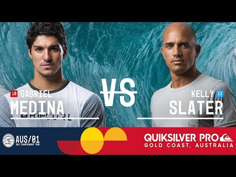Gabriel Medina vs. Kelly Slater - Quiksilver Pro Gold Coast 2017 Quarterfinals, Heat 4