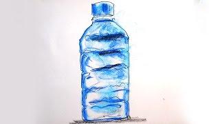 Как нарисовать бутылку минеральной воды / не урок рисования