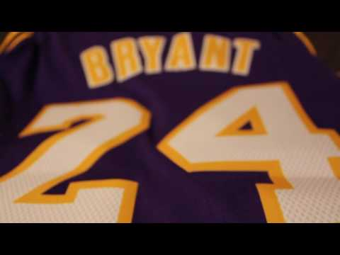 Unpacking New 2016 Swingman Kobe Bryant jersey - YouTube