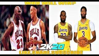 NBA 2K20 CPU Simulation - Chicago Bulls 1996 vs Los Angeles Lakers 2020