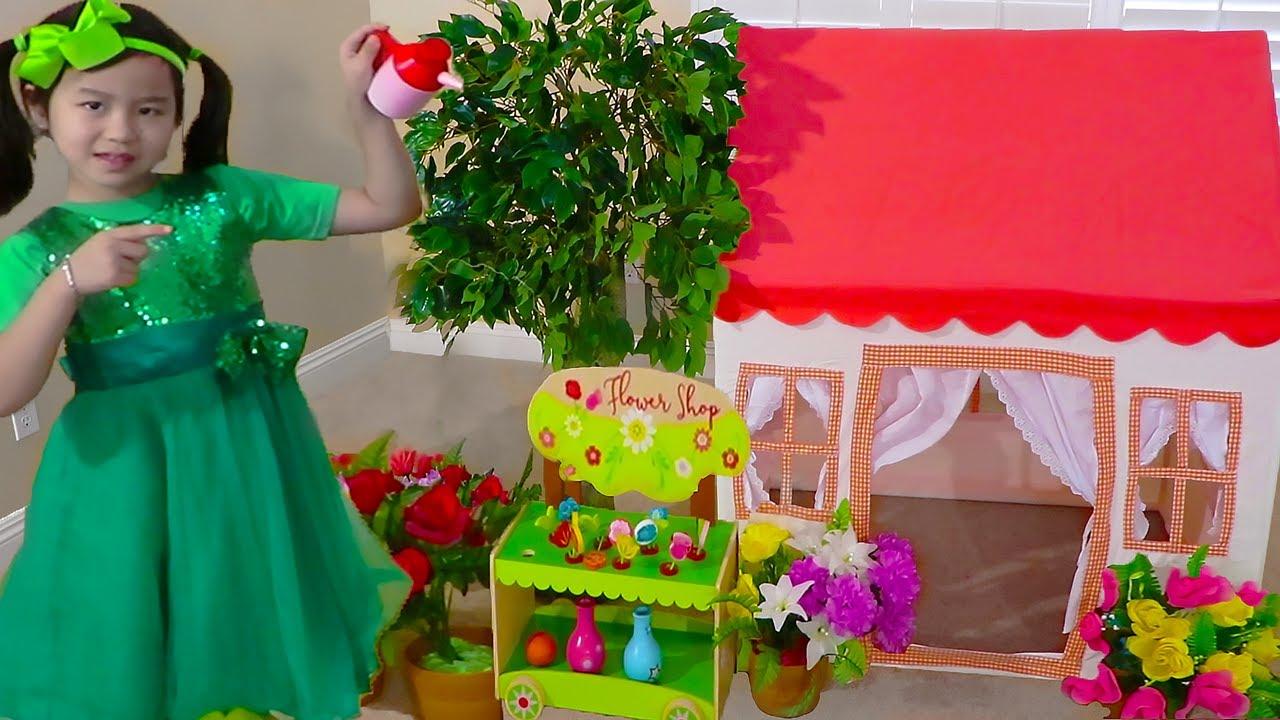 Jannie Pretend Play con Casita de Juegos Tienda de Campaña Playhouse |  Juguetes para niñas y niños
