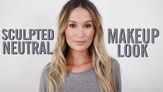 Sculpted Neutral Makeup Look | ttsandra thumbnail