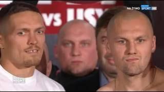 USYK vs. GLOWACKI | Weigh-in & Face-Off | УСИК - ГЛОВАЦКИ. Церемония взвешивания.