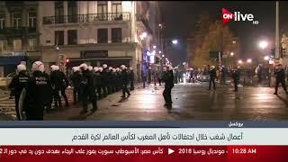 أعمال شغب خلال احتفالات تأهل المغرب لكأس العالم لكرة القدم
