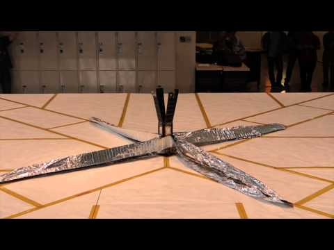 Raw video: LightSail solar sail deployment test