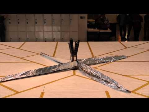 Raw video: LightSail solar sail deployment test