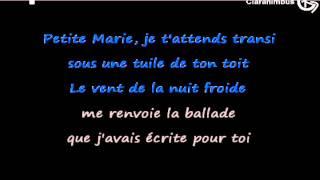 """Petite Marie"" de Francis Cabrel (Paroles/Lyrics/Letra... on screen)"