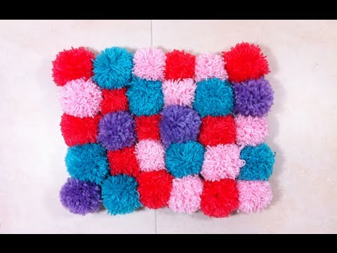 how to make a pompom rug diy tutorial youtube. Black Bedroom Furniture Sets. Home Design Ideas