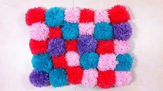 How to Make a Pompom Rug (DIY Tutorial)