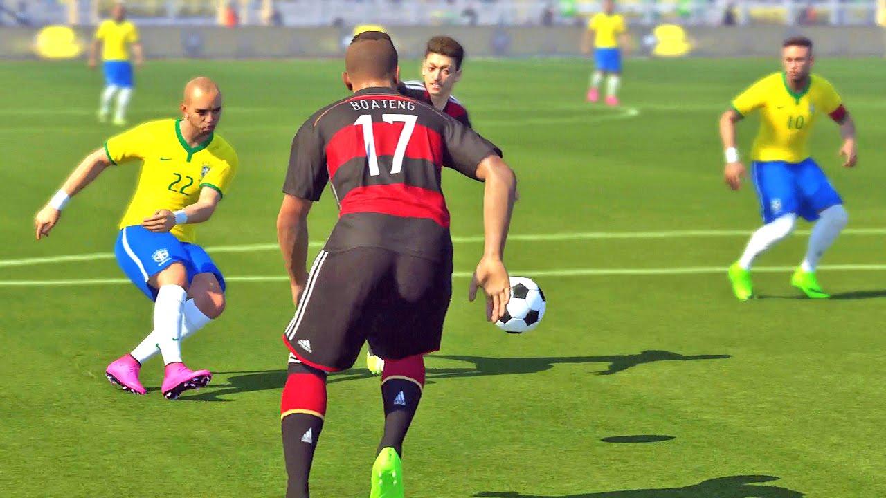 revanche brasil vs alemanha pro evolution soccer 2016
