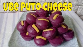 Ube Cheese Puto l Condensed Milk Ube Steamed Cake | How to make Steamed Cake