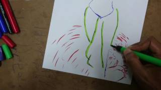 How To Draw  Durga Devi  - Dussehra -