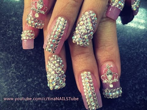 ACRYLIC NAILS: BLING BLING NAILS_NAIL DESIGN-PART 1