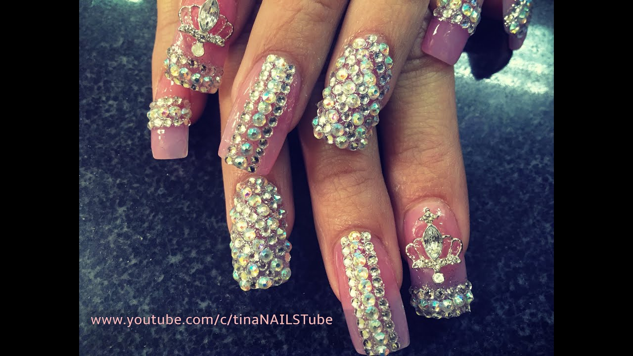 acrylic nails bling