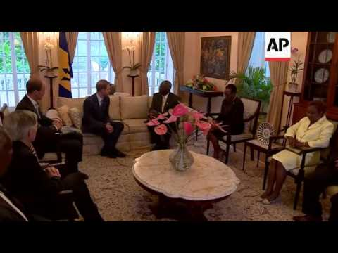 Prince Harry meets with Barbados governor general during tour of the Caribbean