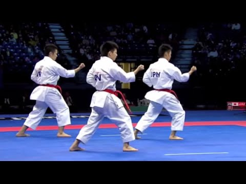 Karate Male Team Kata Final - Japan vs. Italy - WKF World Championships Belgrade 2010 (1/2)