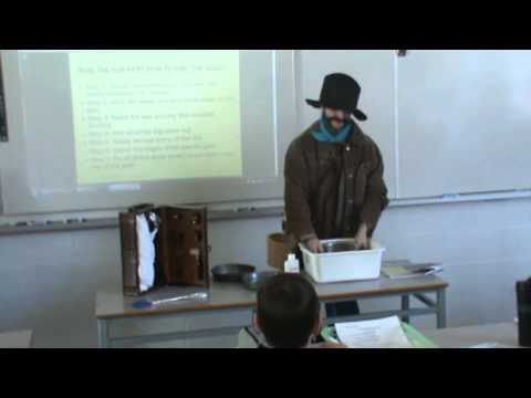 'George Carmack' Relays the Klondike Gold Rush to KCS Grade 8 Students