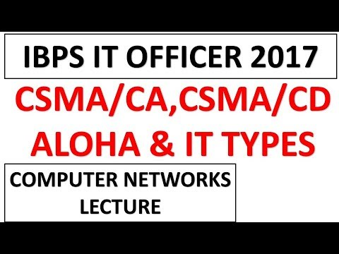 CSMA/CA,ALOHA And Other Networking Protocol For IBPS IT Officer Exam 2017