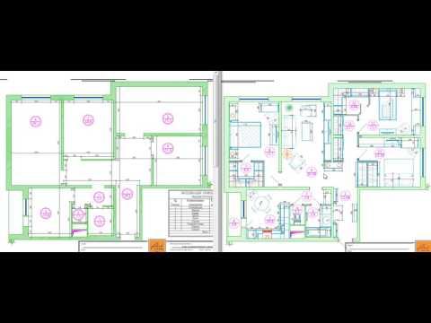 Перепланировка четырехкомнатной квартиры в доме серии КОПЭ