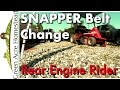 Snapper Belt Change - Rear Engine Riding Mower