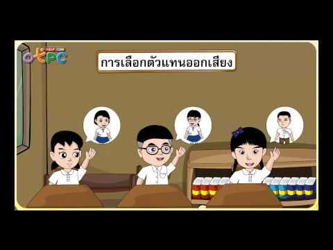ประชาธิปไตยในโรงเรียนและชุมชน - สื่อการเรียนการสอน สังคม ป.3