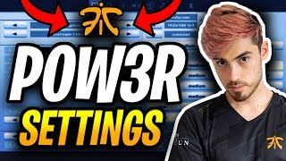 Fnatic POW3R KEYBINDS AND SETTINGS - Fortnite Battle Royale
