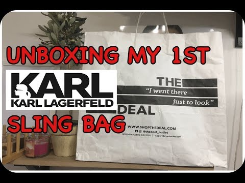 UNBOXING MY 1ST KARL LAGERFELD SLING BAG