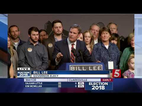 Governor-Elect Bill Lee gives victory speech