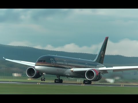Royal Jordanian B787-8 [JY-BAB] landing and takeoff at Zurich Airport