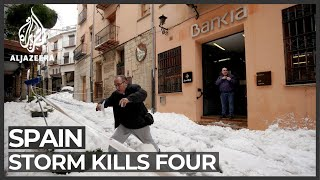 Spain clears up after winter storm kills four, causes power cuts