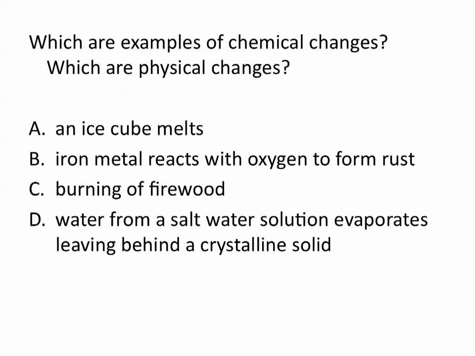 Physical And Chemical Changes Chemistry Tutorial Youtube