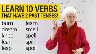 English Grammar & Spelling: VERBS with 2 PAST TENSES