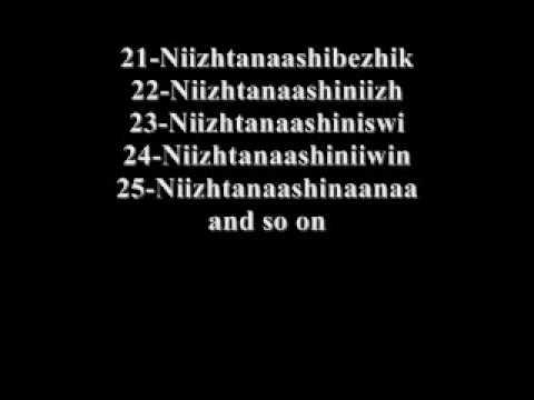 Ojibwe Language Lesson 01 Numbers 20-100-ᐅᑷNwᐁ ᔚnSᐊᐊswᐃnYk  ᓊᔅᐦᐃ