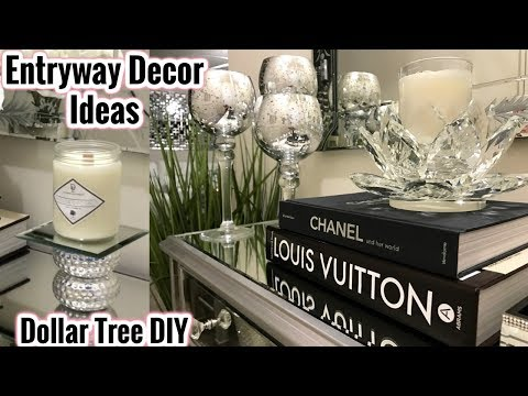Glam Mirror Entryway Decor Ideas | Dollar Tree DIY Home Decor