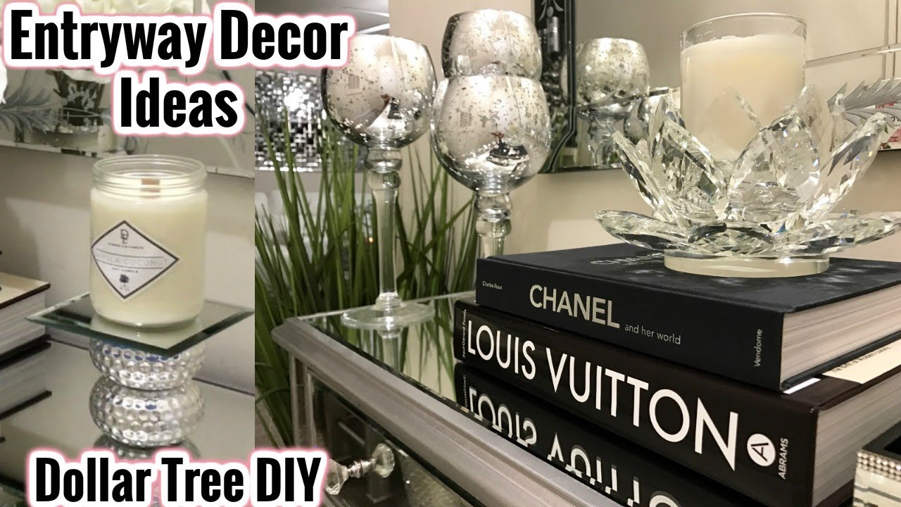 Superior Dollar Tree Home Decor Ideas Part - 2: Glam Mirror Entryway Decor Ideas | Dollar Tree DIY Home Decor