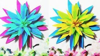 How To Make Easy Paper Flower || DIY Easy Paper Flower Tutorial || Crafts Design