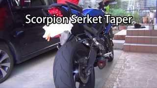 street triple scorpion exhaust ストリートトリプル スコーピオン マフラー交換